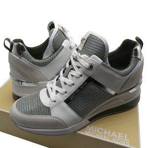 Michael Kors GEORGIE Leather and Chain-Mesh Traine